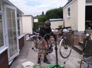 30 minutes at the Senedd, and later cleaning my Raleigh Pioneer 002