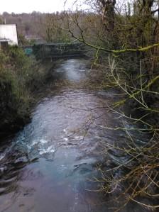 The river at Pontneddfechan.